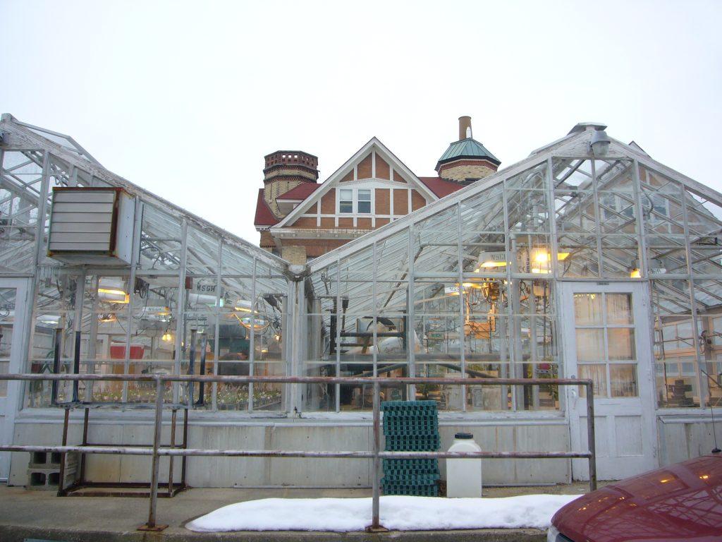 Greenhouse building.